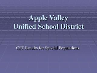 Apple Valley  Unified School District