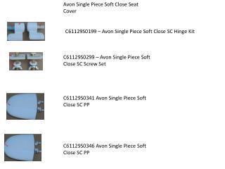 Avon Single Piece Soft Close Seat Cover