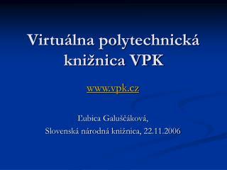 Virtuálna polytechnická knižnica VPK