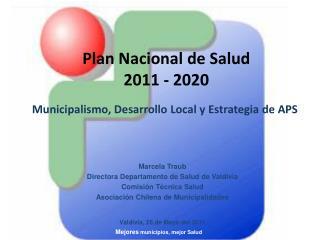 Plan Nacional de Salud  2011 - 2020