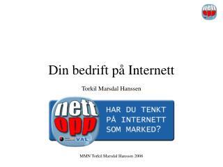 Din bedrift på Internett