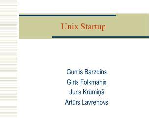 Unix Startup