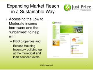 Expanding Market Reach in a Sustainable Way
