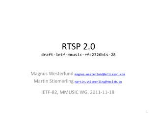 RTSP 2.0 draft-ietf-mmusic-rfc2326bis-28