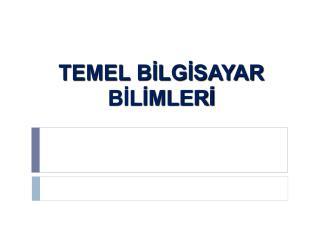 TEMEL  B?LG?SAYAR B?L?MLER?