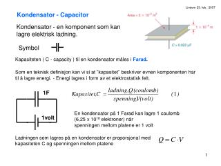 Kondensator - Capacitor