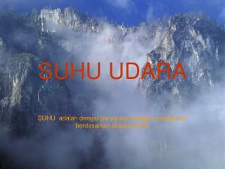 SUHU UDARA
