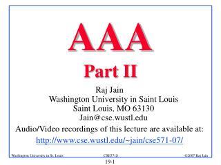 AAA Part II