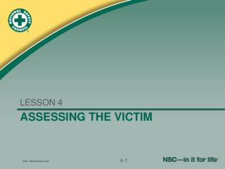 Assessing the victim