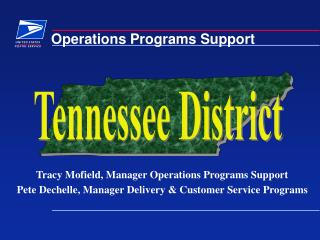 Operations Programs Support