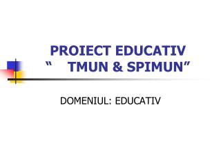 "PROIECT EDUCATIV ""TMUN & SPIMUN"""