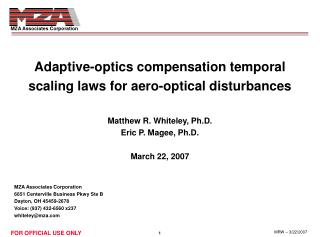 Adaptive-optics compensation temporal scaling laws for aero-optical disturbances