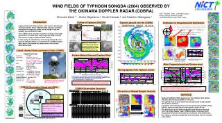 WIND FIELDS OF TYPHOON SONGDA (2004) OBSERVED BY  THE OKINAWA DOPPLER RADAR (COBRA)