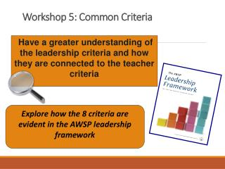 Workshop 5: Common Criteria