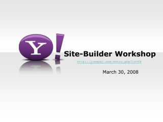 Site-Builder Workshop