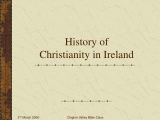 History of  Christianity in Ireland
