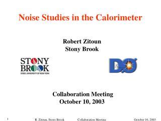 Noise Studies in the Calorimeter