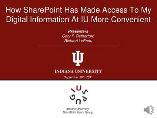 How SharePoint Has Made Access To My Digital Information At IU More Convenient