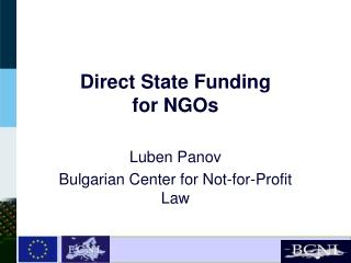Direct State Funding  for NGOs
