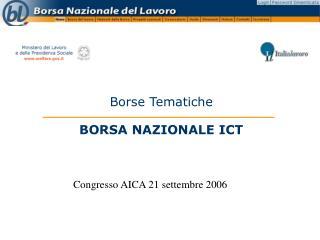 Borse Tematiche BORSA NAZIONALE ICT