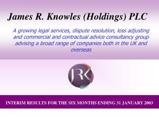 James R. Knowles (Holdings) PLC