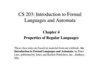 CS 203: Introduction to Formal Languages and Automata