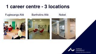 1 career centre - 3 locations