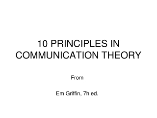 Theories of Conflict Interaction