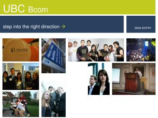 UBC Bcom step into the right direction 