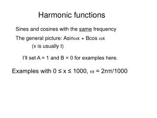 Harmonic functions