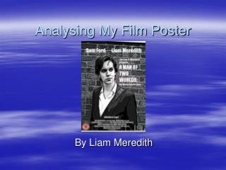 Analysing My Film Poster