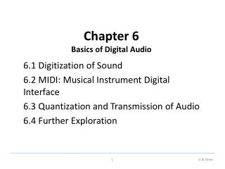 Chapter 6 Basics of Digital Audio