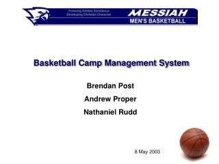Basketball Camp Management System