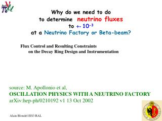 Why do we need to do  to determine   neutrino fluxes to  +-  10 -3