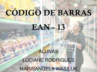 CÓDIGO DE BARRAS EAN - 13