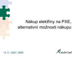 Nákup elektřiny na PXE, alternativní možnosti nákupu