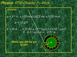 Physics  1710  Chapter 7—Work