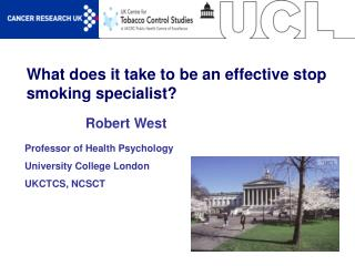 What does it take to be an effective stop smoking specialist?