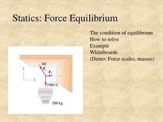Statics: Force Equilibrium