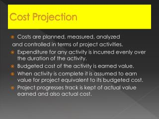 Cost Projection