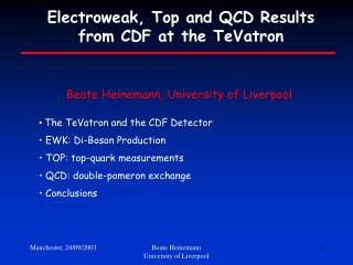 Electroweak, Top and QCD Results from CDF at the TeVatron