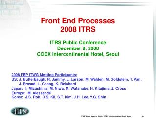 Front End Processes 2008 ITRS