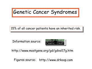 Genetic Cancer Syndromes