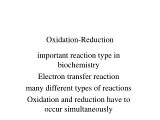 Oxidation-Reduction