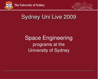 Sydney  Uni  Live 2009