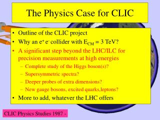 The Physics Case for CLIC