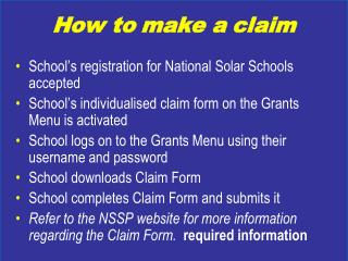 School�s registration for National Solar Schools accepted