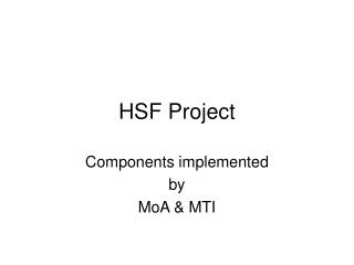 HSF Project