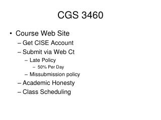 CGS 3460