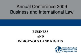 Annual Conference 2009 Business and International Law
